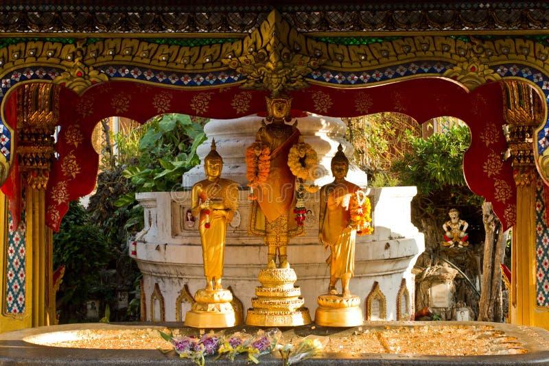 Buddhist Temple Statues Bangkok Thailand stock photos