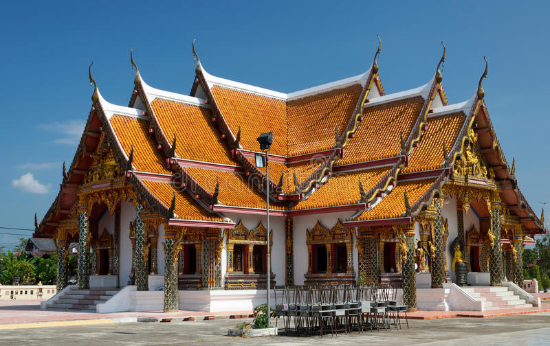 Buddhist temple in Thailand royalty free stock photos