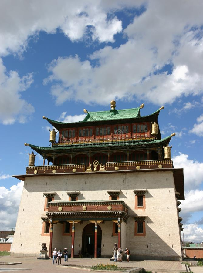 A Buddhist temple, Mongolia. stock images
