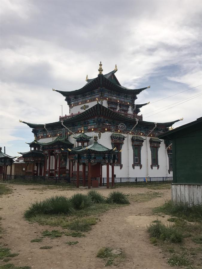 Buddhist temple in Ulan-Ude, Russia stock photography