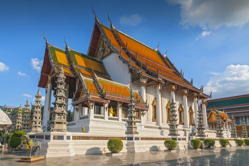 Buddhist temple Wat Suthat, Bangkok, Thailand.  royalty free stock image