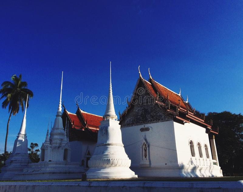 Buddhist temples in Thailand royalty free stock image