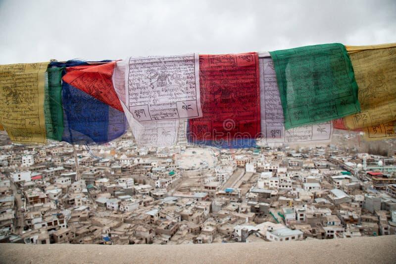 Buddhist Tibetan prayer flag colorful flag stock photography