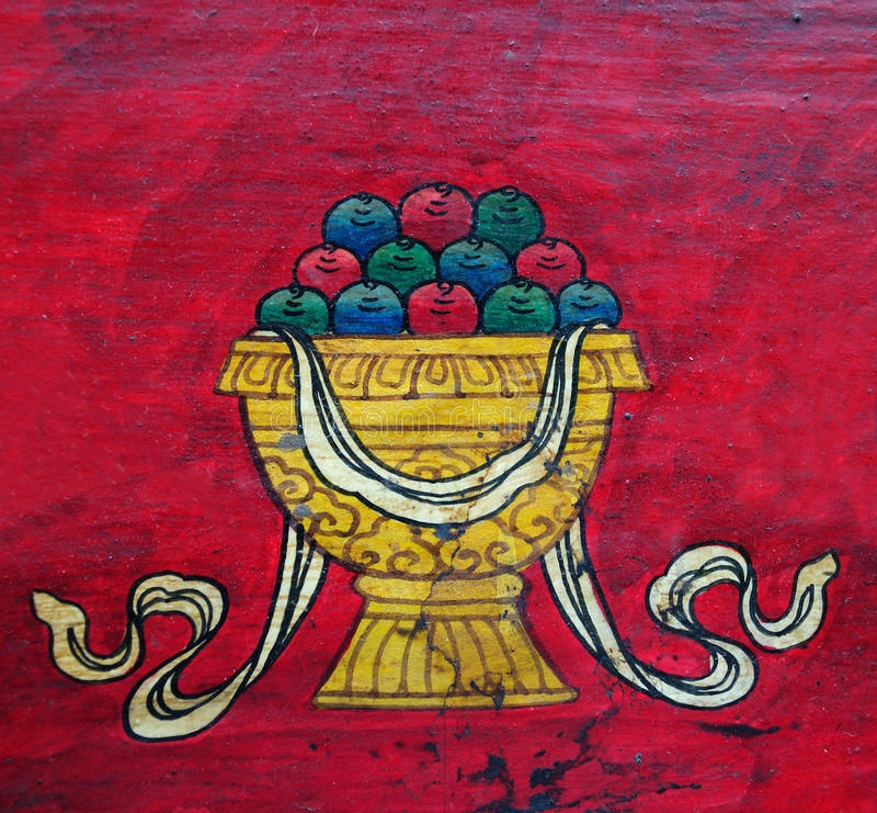 Buddhist Treasure Vase Royalty Free Stock Images