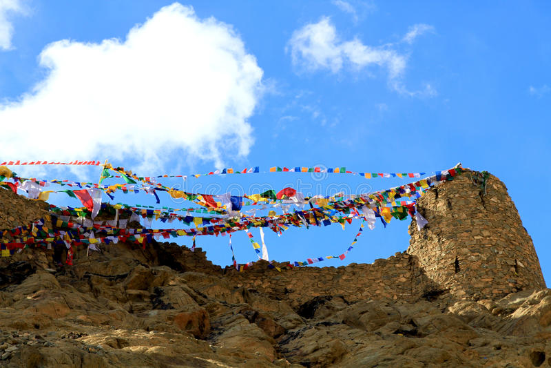 Buddhist Wish Flags Royalty Free Stock Photos