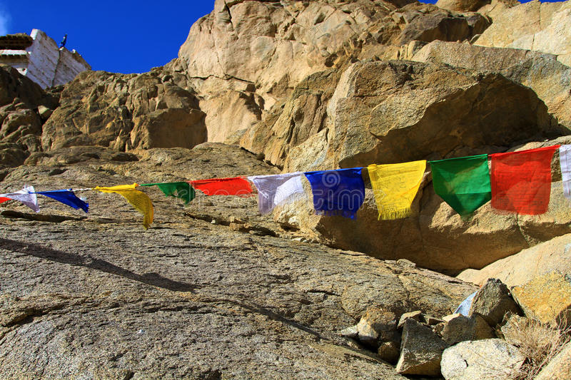 Download Buddhist wish flags stock image. Image of rocks, sunny - 25984751