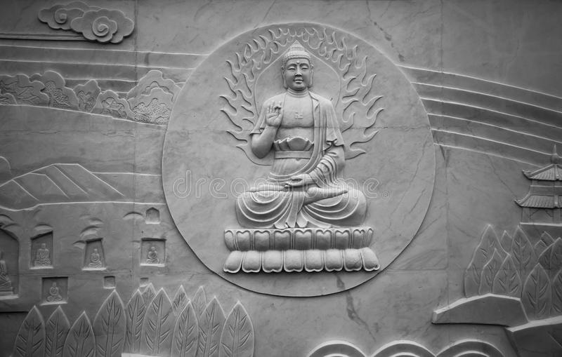Download Buddhistic Sculpture stock image. Image of relief, history - 26143645