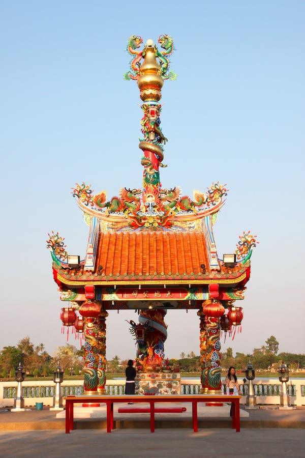 Buddhistische Anbetung und Herstellung der frommen Übertragungsgüte stockfoto