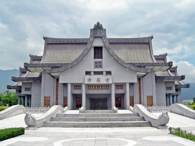 Buddhistische Architekturfassade des Gebäudes stockbilder