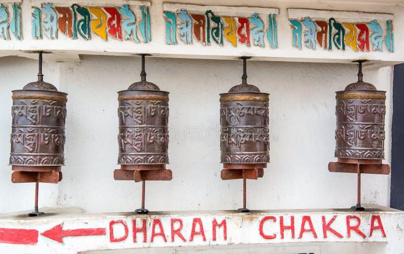 Buddhistische Gebetsräder lizenzfreies stockfoto