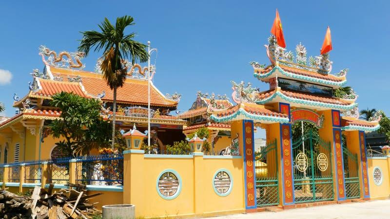 Buddhistische Hauspagode in Danang Vietnam 2016 stockfotografie