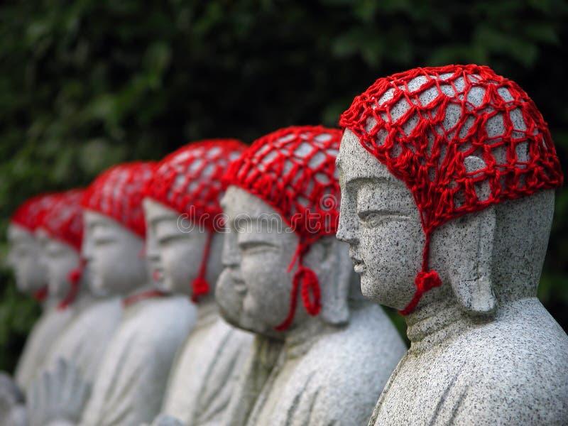 Buddhistische Statuen stockbild