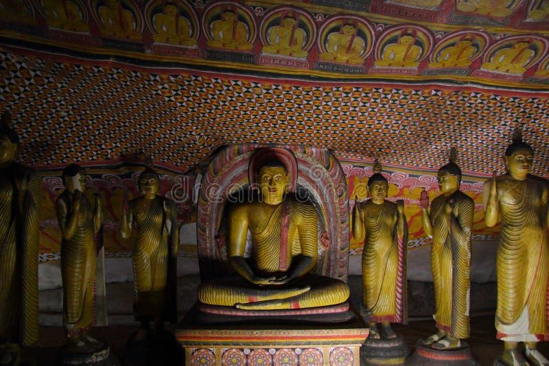 Buddhistischer Höhlentempel in Dambulla, Sri Lanka lizenzfreie stockfotos
