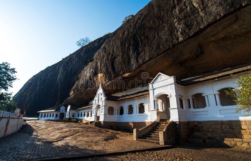 Buddhistischer Höhlentempel Dambulla in Sri Lanka lizenzfreie stockfotografie