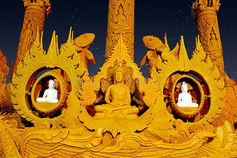 Buddhistischer Lent Day stockfotografie