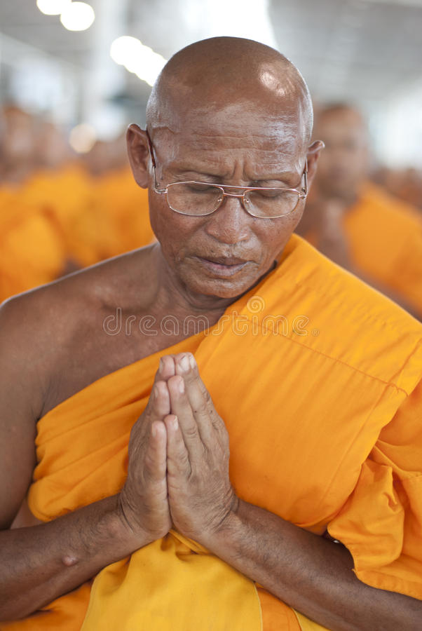 Buddhistischer Mönch in Thailand stockfotografie