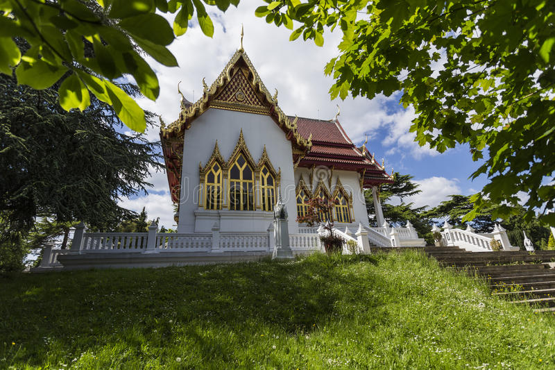 Buddhistischer Tempel Buddhapadipa lizenzfreie stockbilder