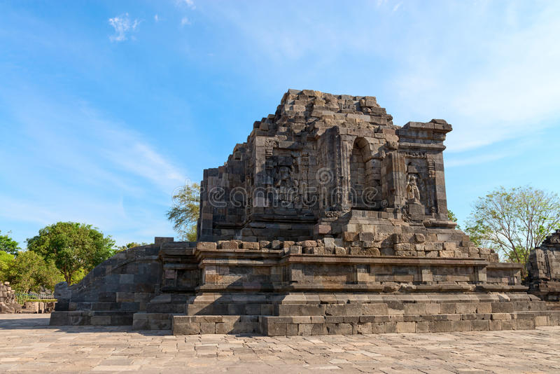 Buddhistischer Tempel Candi Lumbungs stockbild