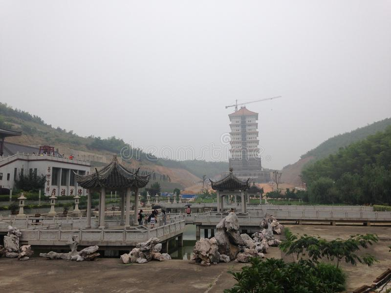 Buddhistischer Tempel Chinise stockfotos