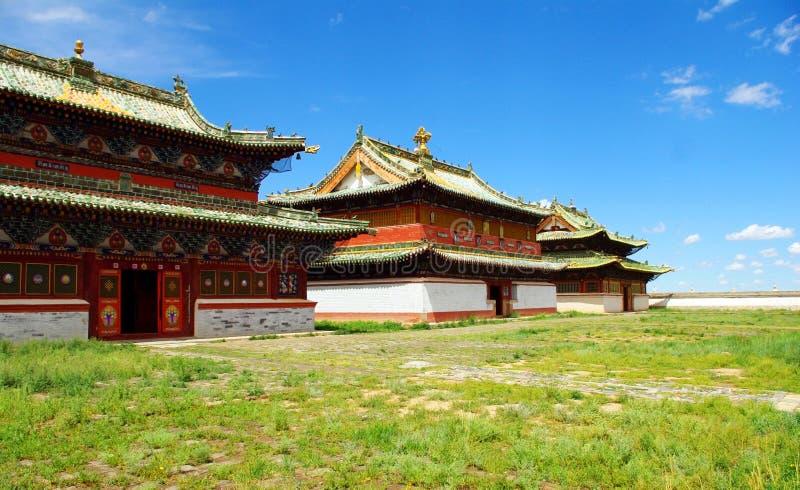 Buddhistischer Tempel in Mongolei stockfotografie