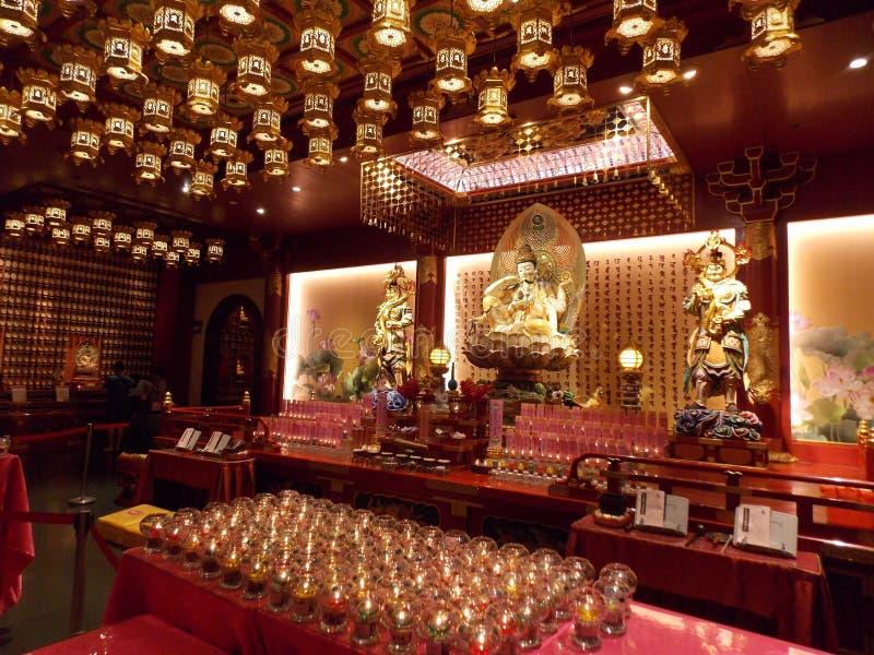Buddhistischer Tempel, Singapur lizenzfreie stockfotos