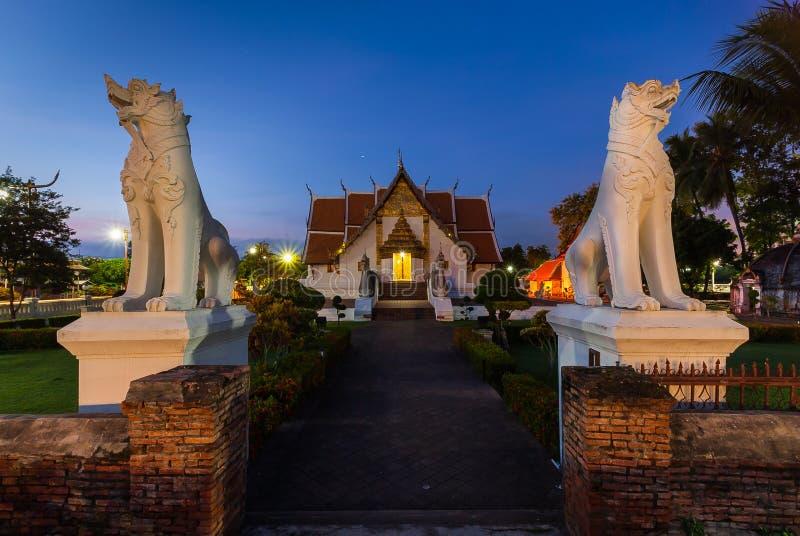 Buddhistischer Tempel von Wat Phumin lizenzfreie stockfotografie