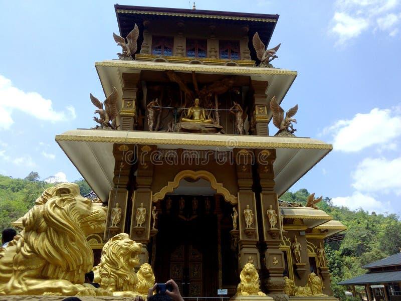 Buddhistisches Kloster Mahamevnawa in Sri Lanka stockbild