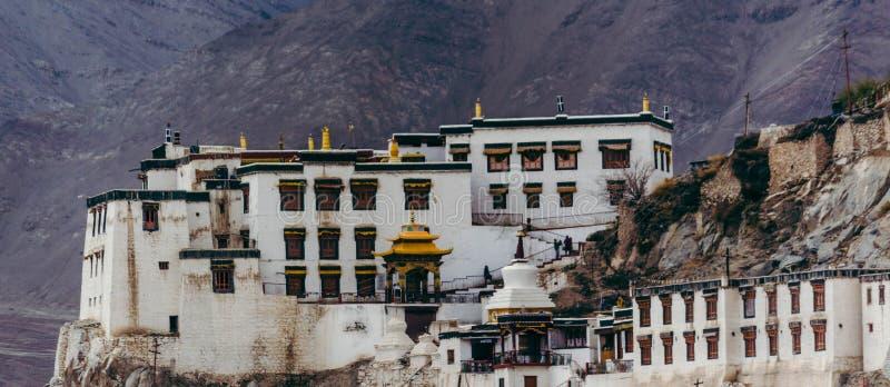 Buddhistisches Kloster in Tibet stockbild