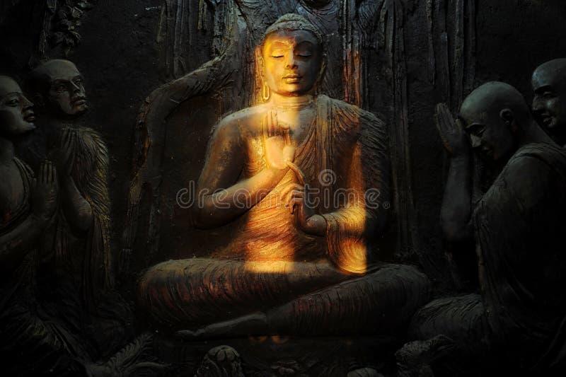 Buddhistisches Wandbild stockbild