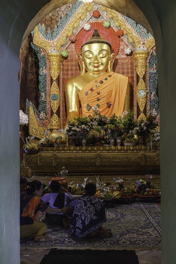 Buddhists praying royalty free stock images