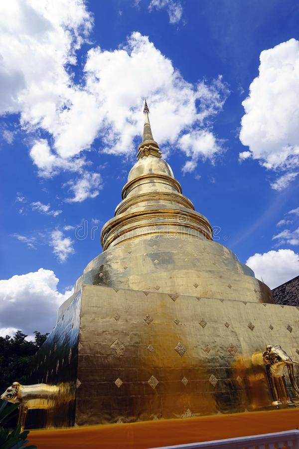 Buddismo Dio del tempio di Wat Phra Singh Chiang Mai Buddha Tailandia fotografia stock