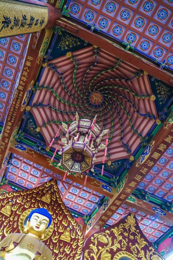 Buddismtempel in Quzhou China stock afbeelding