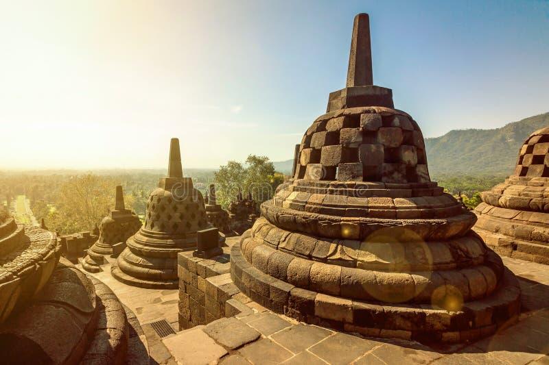 Buddist Borobudur świątynny kompleks w Yogjakarta fotografia stock