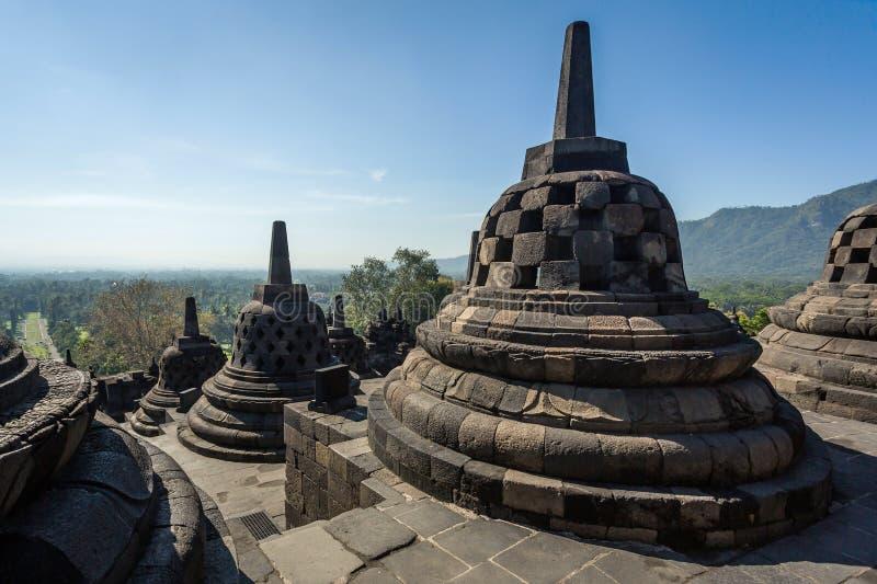 Buddist Borobudur świątynny kompleks w Yogjakarta fotografia royalty free