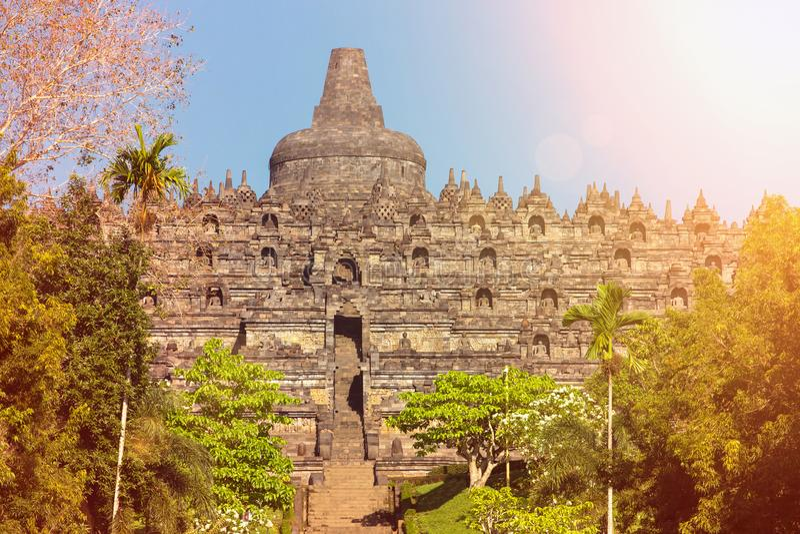 Buddist Borobudur świątynny kompleks w Yogjakarta w Jawa fotografia stock