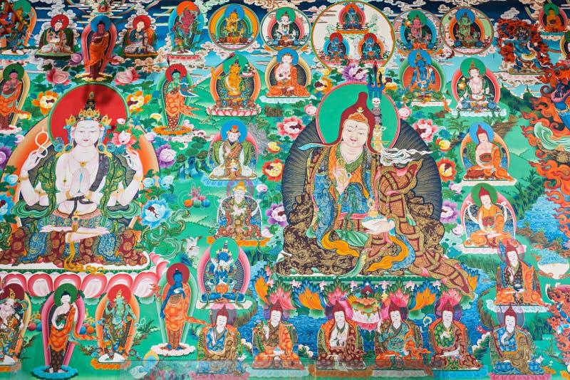buddist inom tempelet royaltyfri bild