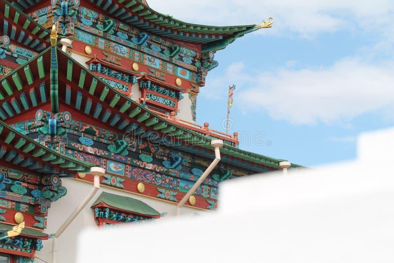 Buddist tempel royaltyfri bild