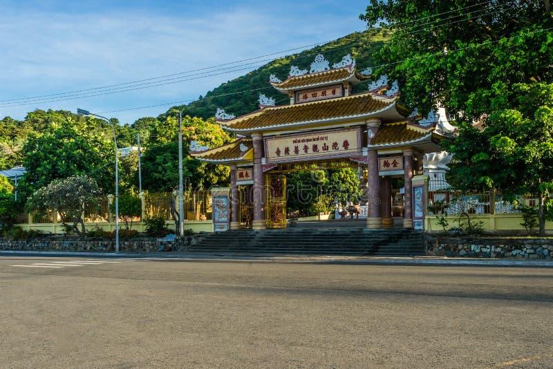 Buddist tempel i den Vungtau staden arkivfoto