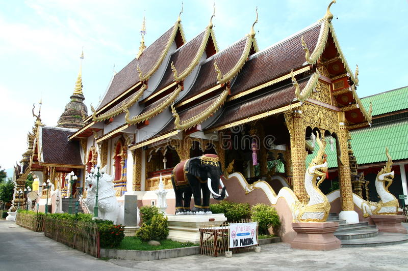 Buddist temple in Chiang Mai royalty free stock photo