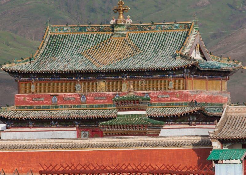 Buddistisk kloster Erdene Zu royaltyfria bilder