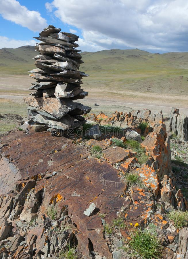 Buddistisk kloster Erdene Zu arkivfoton
