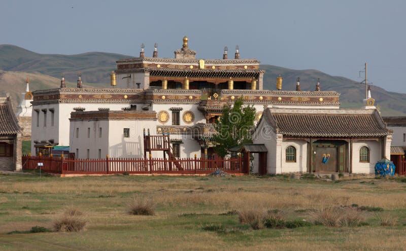 Buddistisk kloster Erdene Zu royaltyfri fotografi