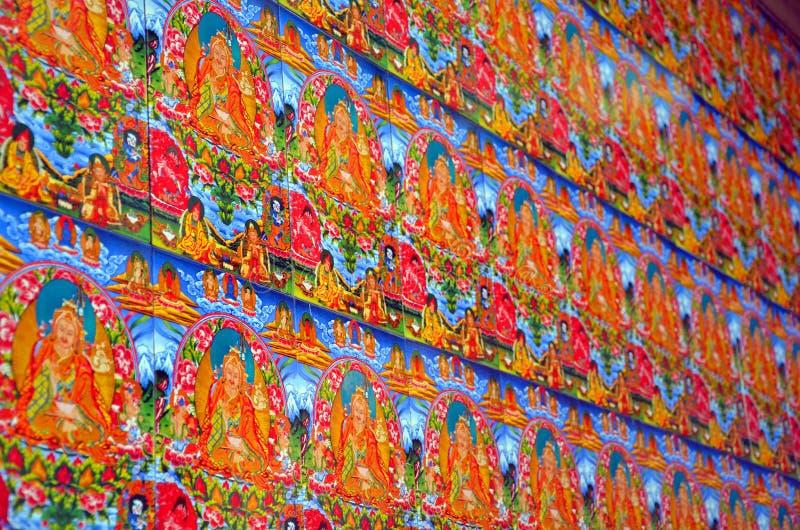 Buddistisk målning arkivbild