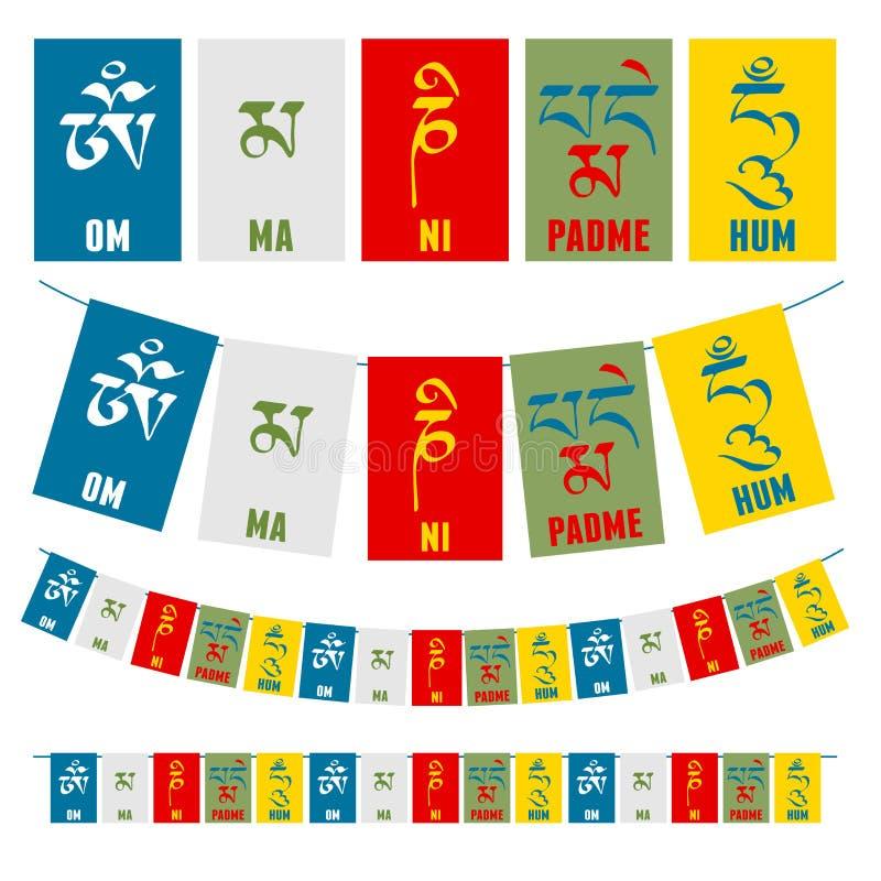 buddistisk mantra royaltyfri illustrationer