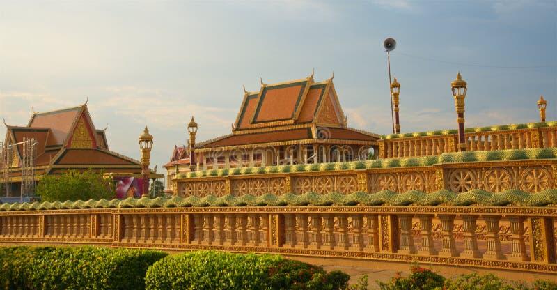 Buddistisk mitt Oudong arkivfoto