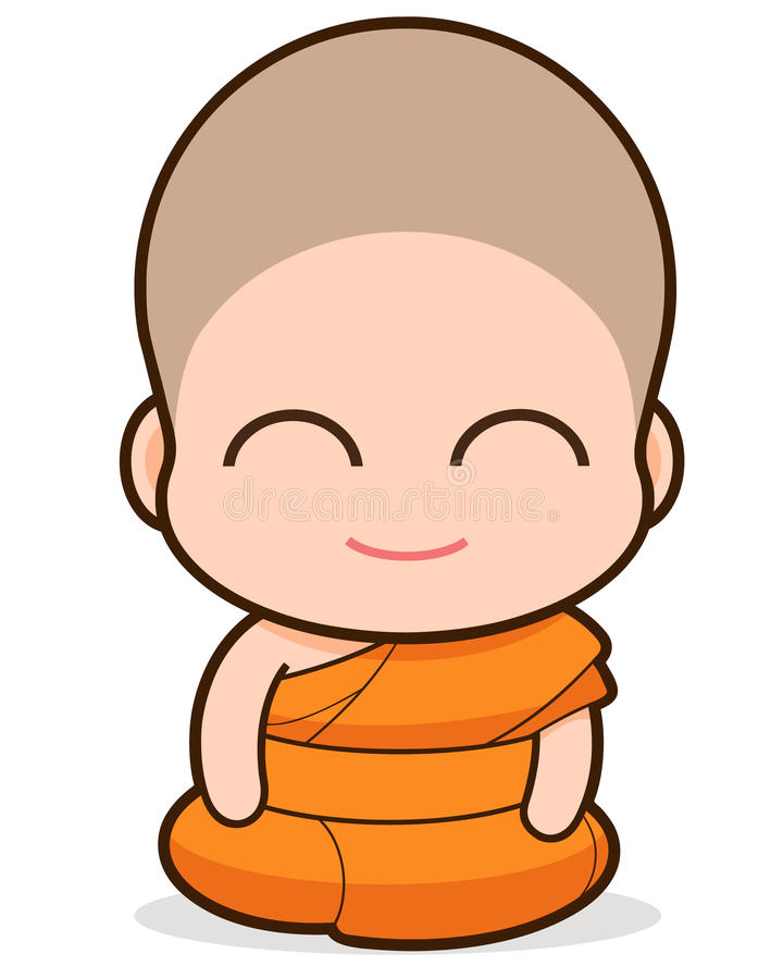 buddistisk monk stock illustrationer