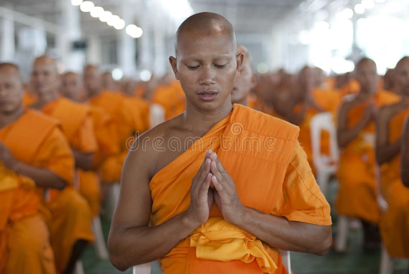 buddistisk monk thailand royaltyfri fotografi