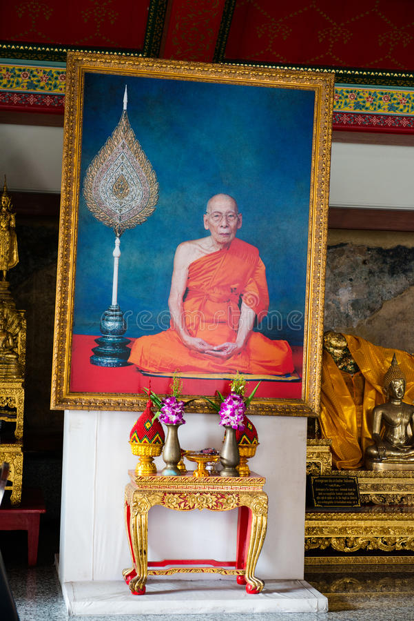 Buddistisk munk Shrine, tempel royaltyfri fotografi