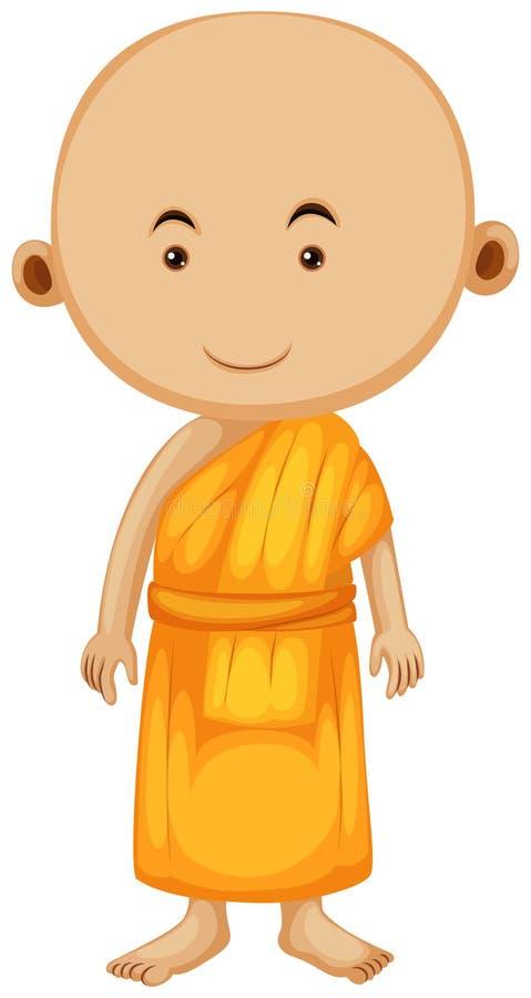 Download Buddistisk Munk Som Bara Står Vektor Illustrationer - Illustration av religion, klosterbroder: 78731722