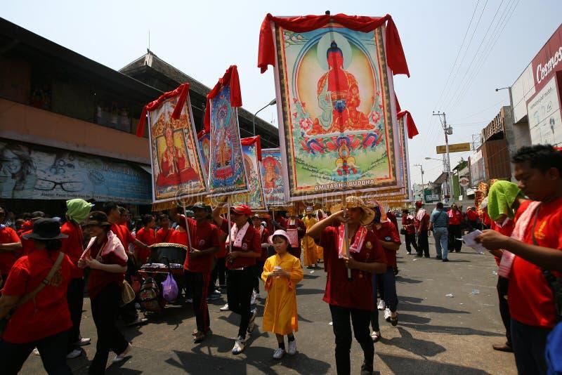 Buddistisk religiös ritual royaltyfria foton